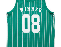Green Letter Number And Stripe Print Vest Choies.com online fashion store USA