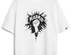 White Splash Letter And Hand Print T-shirt Choies.com online fashion store USA