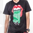 Black Mouth Snake Print Short Sleeve T-shirt Choies.com online fashion store USA