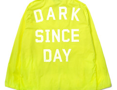 Fluorescent Yellow Letter Print Back Hooded Lightweight Jacket Choies.com online fashion store USA