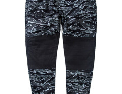 Green Camo Print Contrast Knee Tapered Jogger Pants Choies.com online fashion store USA