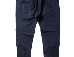 Dark Blue Zip Pocket Drawstring Waist Tapered Joggers Choies.com online fashion store USA