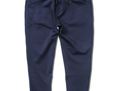 Dark Blue Tapered Leg Drawstring Waist Jogger Pants Choies.com online fashion store USA