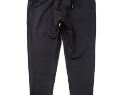 Black Tapered Leg Drawstring Waist Jogger Pants Choies.com online fashion store USA