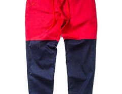 Red Color Block Drawstring Waist Tapered Jogger Pants Choies.com online fashion store USA