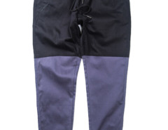 Black Color Block Drawstring Waist Tapered Jogger Pants Choies.com online fashion store USA