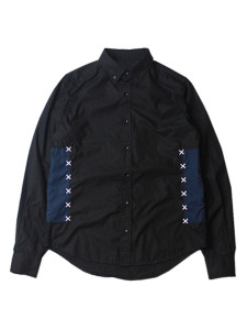 Black Contrast Embroidery Detail Long Sleeve Shirt Choies.com online fashion store USA