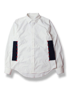 White Contrast Embroidery Detail Long Sleeve Shirt Choies.com online fashion store USA