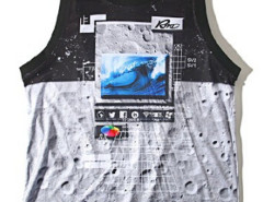 Color Block Digital Lunar Surface Print Vest Choies.com online fashion store USA