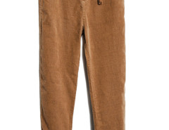 Khaki Tasseled  Drop Emebllished Corduroy Pants Choies.com online fashion store USA