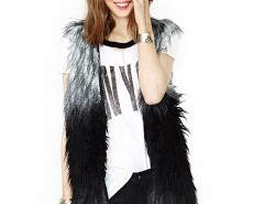 Faux Fur Vest in Shaggy Longhair Chicnova online fashion store China