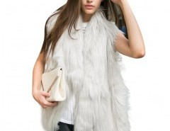 Faux Fur Vest in Shaggy Long Hair Chicnova online fashion store China