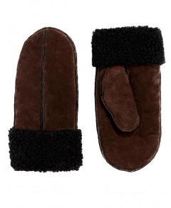 Suede Mitten in Coffee Chicnova online fashion store China