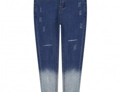 Ripped Skinny Jeans in Ombre Blue Chicnova online fashion store China