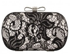 Bow Fastening Clutch with Lace Overlay Chicnova online fashion store China