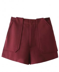 Solid Wide Leg Shorts Chicnova online fashion store China