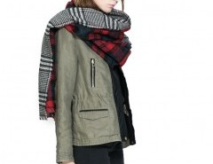 Color Block Plaid Cape Chicnova online fashion store China