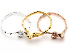 seahorse bangle. yellow gold. MrKate.com online fashion store USA