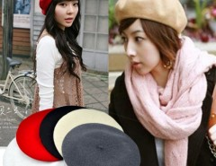 5 Colors New Fashion Wool Warm Women Beret Beanie Hat Cap Hot Cndirect online fashion store China