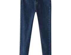 Preppy Style Skinny Jeans with Pockets Chicnova online fashion store China
