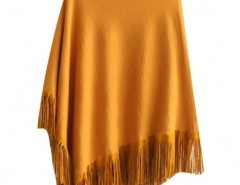Asymmetric Fringed Cape Chicnova online fashion store China