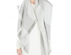 Fringe Cape with Stripes Chicnova online fashion store China