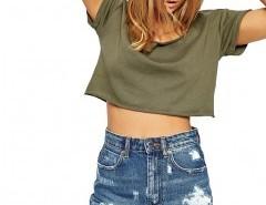 Plus Size Distressed Denim Shorts Chicnova online fashion store China