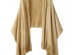 Mohair Fringing Cape Chicnova online fashion store China
