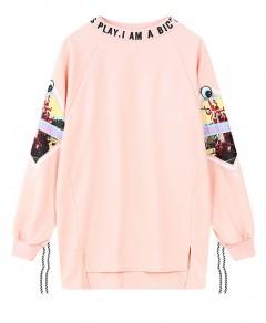 Asymmetric Sweatshirt with Print Chicnova online fashion store China