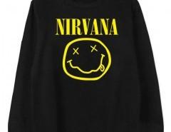 Sweatshirt with NIRVANA Print Chicnova online fashion store China