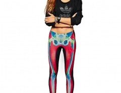 Leggings with All Over Skull Print Chicnova online fashion store China