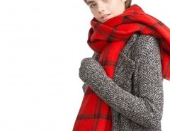 Blanket Scarf in Red Plaid Check Chicnova online fashion store China
