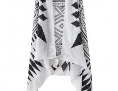 Stripe Print Cape Chicnova online fashion store China
