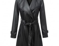 Notch Lapel Belted Coat Chicnova online fashion store China