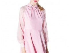 Empire Dress with Beaded Collar Chicnova online fashion store China