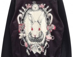 Sweatshirt with Rabbit Print Chicnova online fashion store China