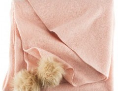 Fine Knit Square Scarf with Pom Chicnova online fashion store China