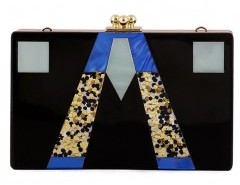 Clip Top Clutch Bag in Color Block Chicnova online fashion store China