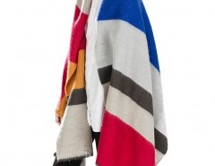 Multiple Color Block Cape with Stripe Chicnova online fashion store China