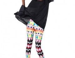 Leggings in All-over Geo Print Chicnova online fashion store China