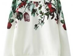 Round Neck Sweatshirt with Print Chicnova online fashion store China