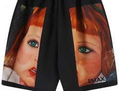 Straight Shorts with Vivid Print Chicnova online fashion store China