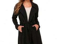 Lapel Coat with Long Sleeves Chicnova online fashion store China