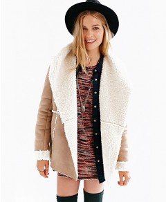 Solid Suede Shearling Coat Chicnova online fashion store China