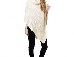 Roll Neck Cape Sweater Chicnova online fashion store China