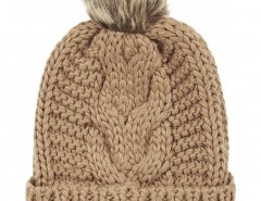Turn Up Beanie with Pom Chicnova online fashion store China
