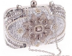 Box Clutch with Bead Embellishment Chicnova online fashion store China