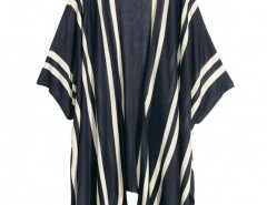 Knitted Kimono in Color Block Stripe Chicnova online fashion store China