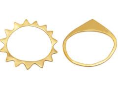 flat vertebrae bangles. set of two. MrKate.com online fashion store USA