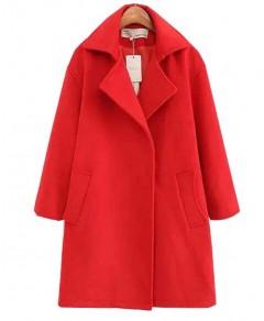 Notch Lapel Cashmere Coat Chicnova online fashion store China
